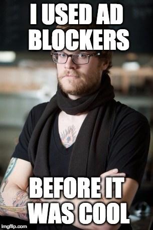 Mobile JavaScript Adblock Hipster